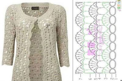 HERMOSA CHAQUETA A CROCHET | Patrones Crochet, Manualidades y Reciclado