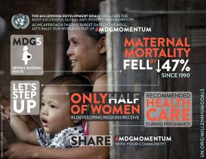 Millenium Development Goal #5 - Our latest is blog is up and it details MDG#5, which is why we exist.  Check it out