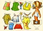 Muñecas de papel para recortar y vestir. Vintage paper dolls to dress