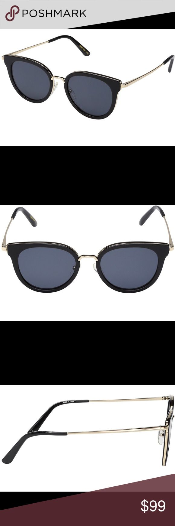 TOMS Rey Sunglasses TOMS Rey sunglasses in shiny black, brand new and in box! Retails for $159  -100% UVA/UVB protection -  handmade acetate frame -  5 barrel hinges for sturdiness Toms Accessories Sunglasses