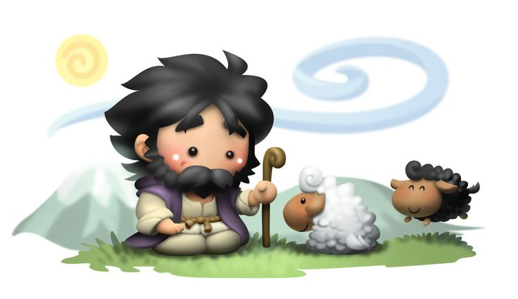 Jesus with sheep by kokecit.deviantart.com on @deviantART