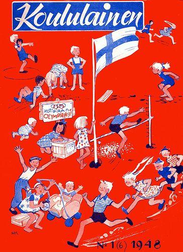 Koululainen -magazine 1948, cover by Maija Karma