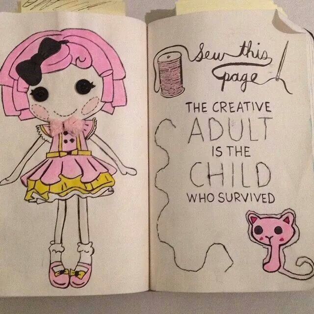 Sew this page   Wreck this journal, Creative books, Art ...  Wreck This Journal Sew This Page
