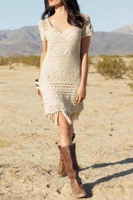 South Crochet tassle dress