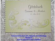 Gästebuch Hochzeit,Maigrün,Drahtbindung 525 D