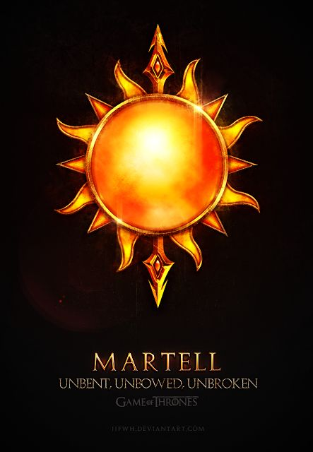House Martell ~ Game of Thrones Fan Art by Jie Feng