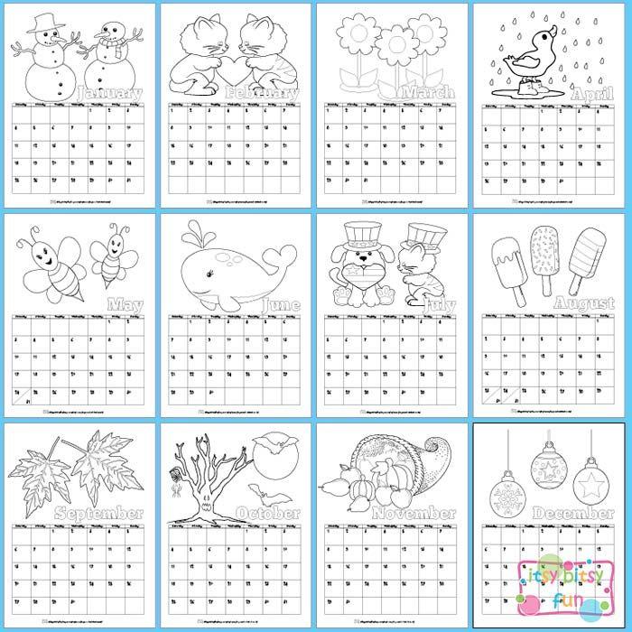 Printable Calendar for Kids 2019 Printables ~ Calendars  Lists