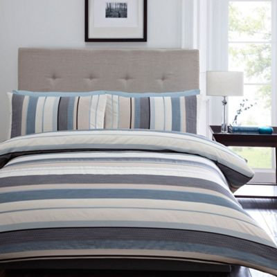 Home Collection Blue 'Waven' bed linen- at Debenhams.com