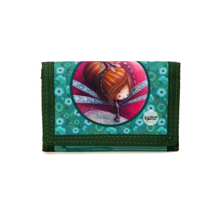 Portefeuille Souple Erika KETTO Flexible Wallet Erika // Fermeture en velcro. 6 espaces de rangement pour cartes. Pochettes pour monnaie et billets. // Velcro closure. 6 card compartments. Pocket for coins. Bill compartment. // #Portefeuille #Wallet #Ketto