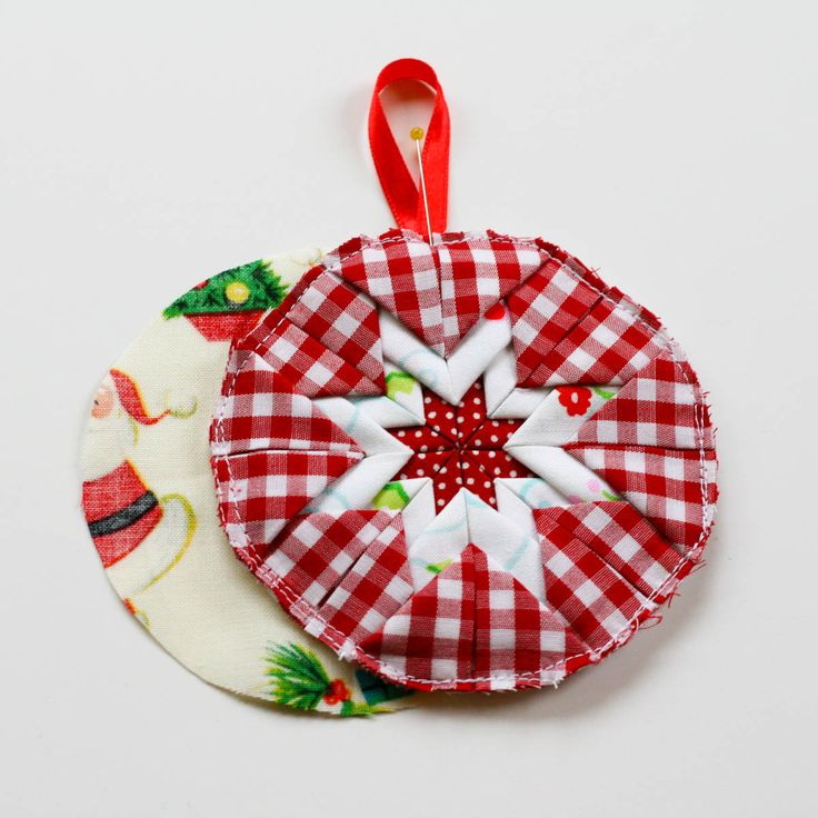 Folded Fabric Christmas Tree: 94 Best Images About Folded Fabric Ornaments On Pinterest