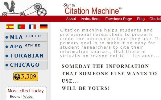 Son of citation machine--citation generator