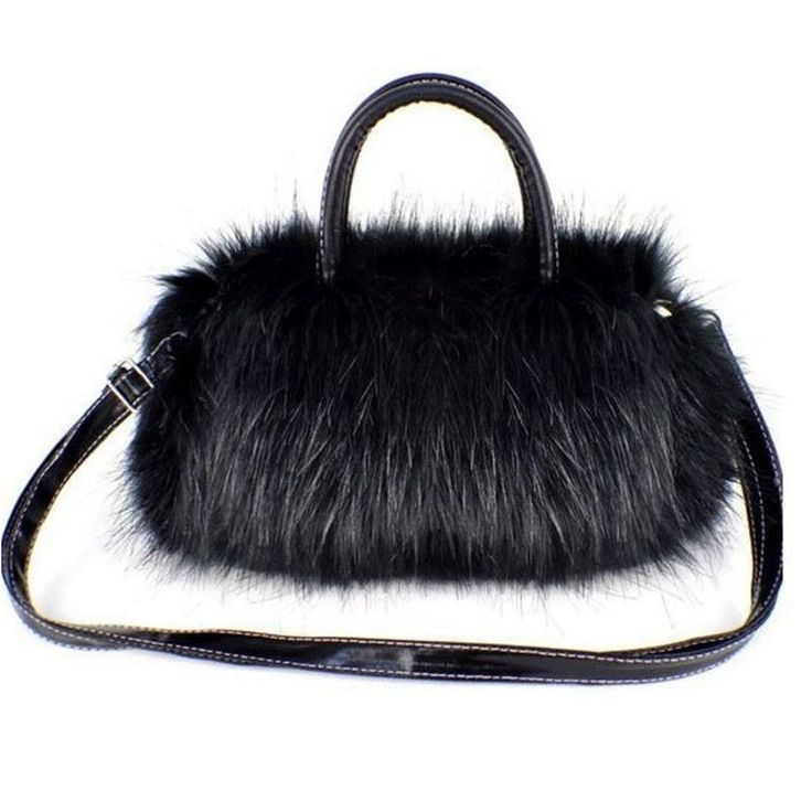 Luxury Women Handbag Faux Rabbit Fur Designer Female Small Messenger Bags #MOJOyCE #MessengerCrossBody