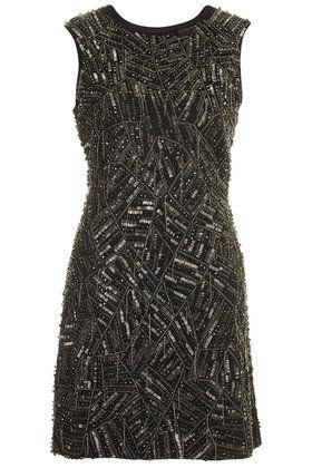 **Online Exclusive Chain Embellished Shift Dress