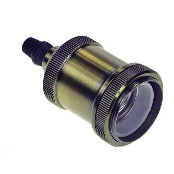 Kolorowe kable mosiężna oprawki do żarówki E27 MediaJet.PL