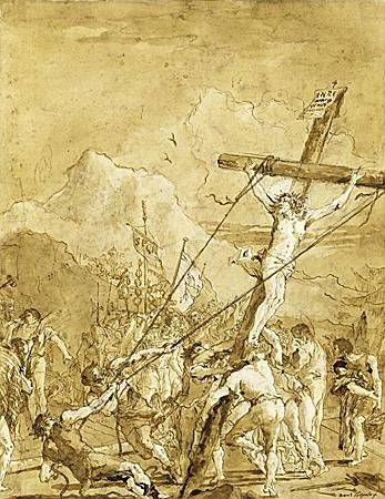 Giovanni Domenico Tiepolo (Venice 1727 - Venice 1804) - The Raising of the Cross.