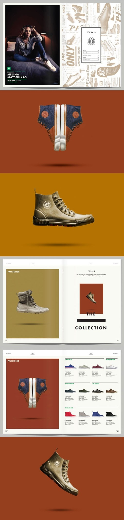 Adam & Co — PF Flyers FY13. #shoes #design #layout