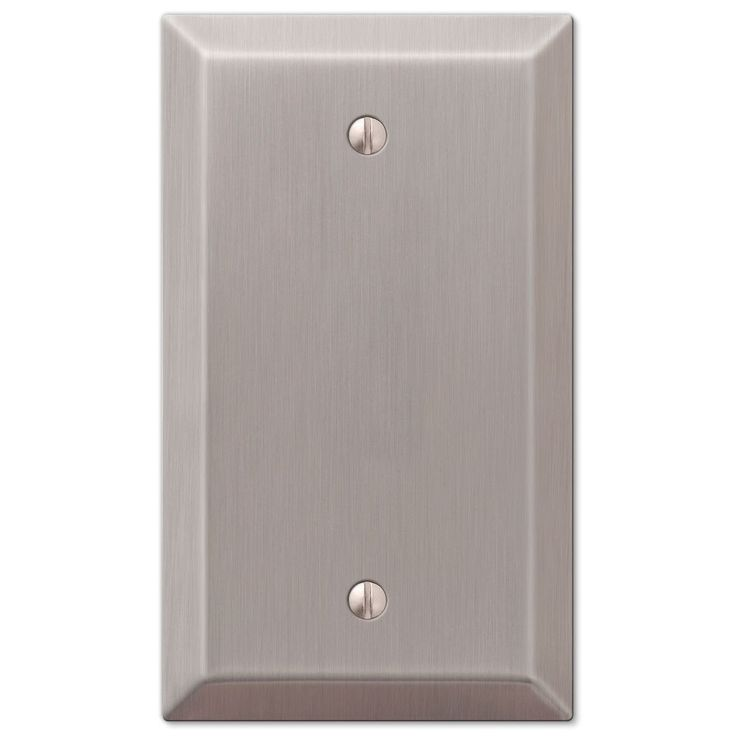 Amerelle Century 163BBN Single Blank Wall Plate - Brushed Nickel – Wall Switch Plates – Residential Lighting - GreyDock.com