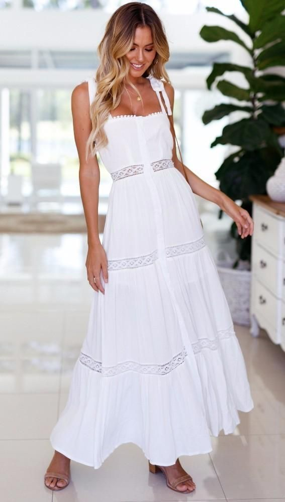 54e4a14316388 White Backless Maxi Dress-Boho Dress, Beach Dress, Summer Dress, Maxi Dress,  Chic Dress, Long Dress, Below knee dress-Boho Beach Hut