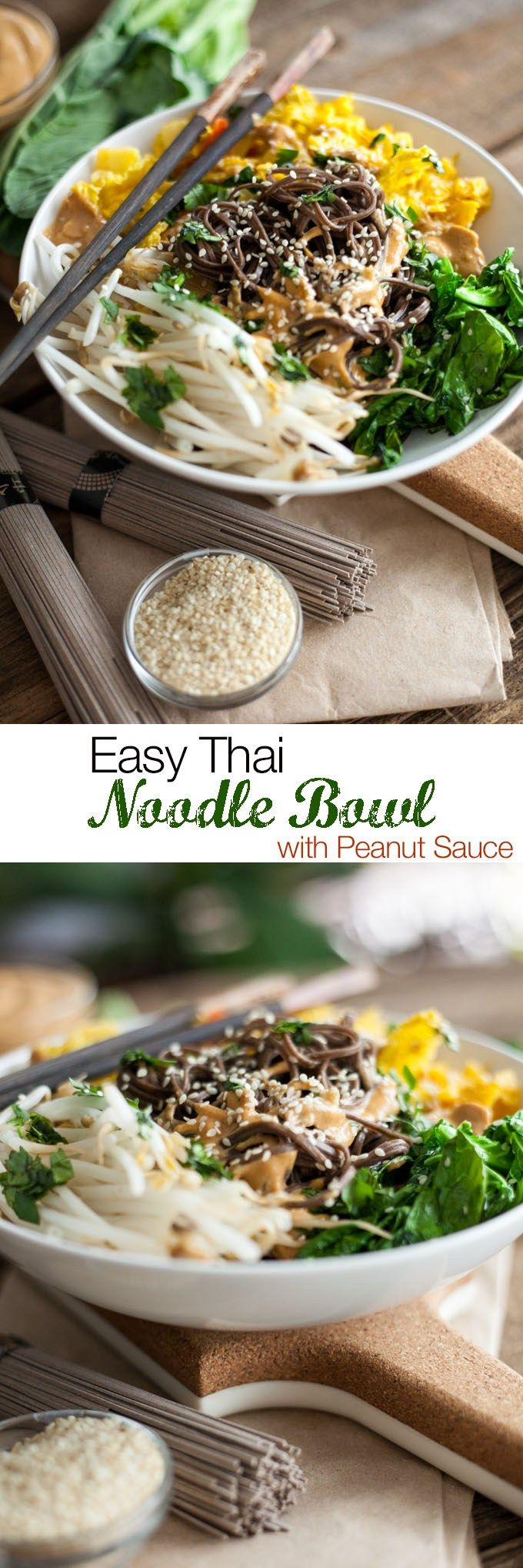 Vegan Thai Peanut Noodles Recipe VEGAN RECIPE