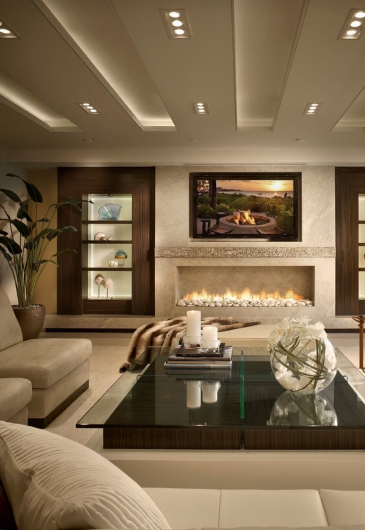 17 best ideas about linear fireplace on pinterest gas - What size tv to get for living room ...