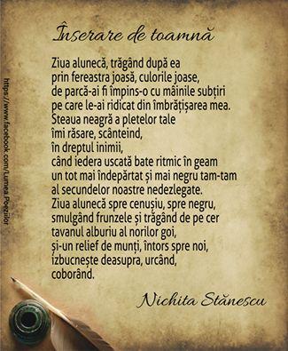 Inserare de toamna de Nichita Stanescu