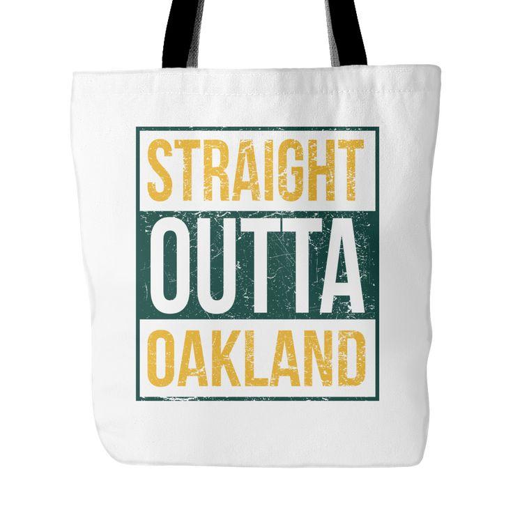 "Straight Outta Oakland Baseball Tote Bag, 18"" x 18"""