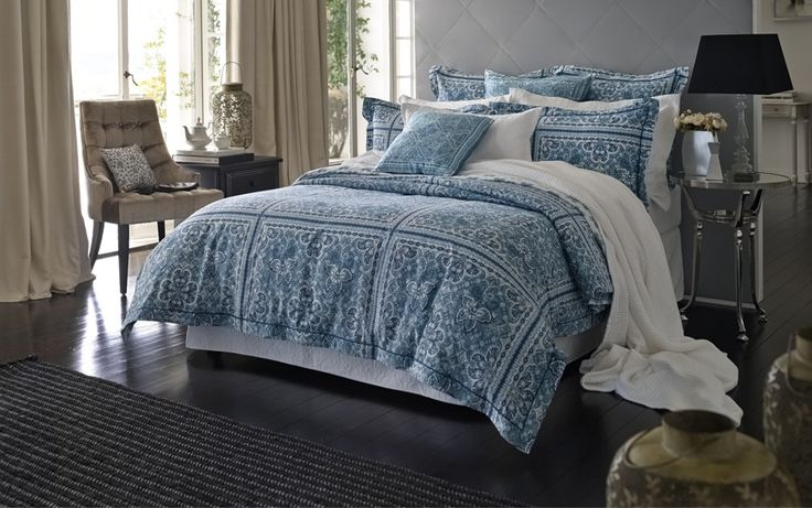 $230 - Queen quilt cover barquet tailored quilt cover - quilt covers - bedroom | Sheridan