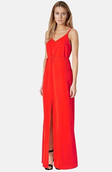 Topshop Cross Back Woven Maxi Dress | Nordstrom