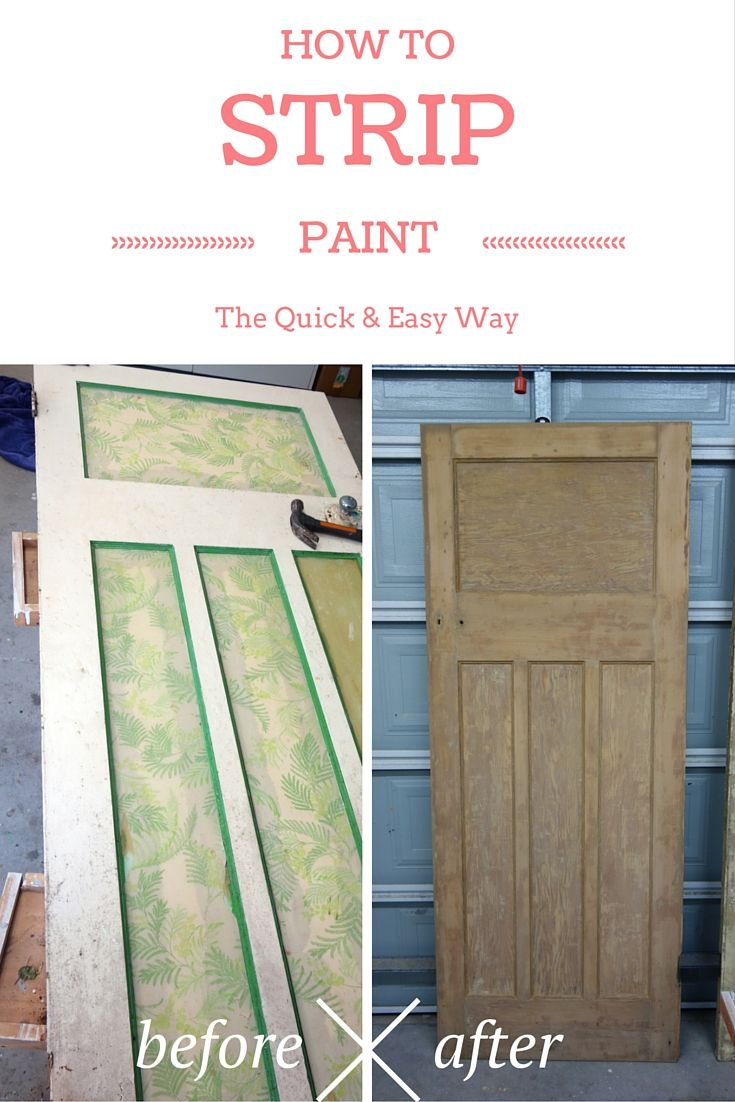 Really pleased with the way the painted doors look it was quick - How To Strip Paint The Quick And Easy Way
