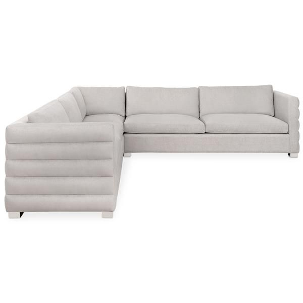Shoreclub Sectional With Channel Tufting Custom Fabric