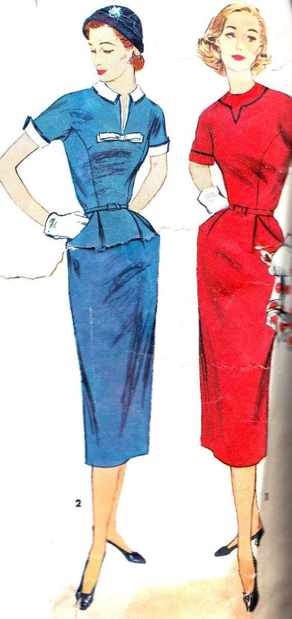 Vintage Sewing Pattern 1950s Simplicity 1418 Slim by paneenjerez, $16.00