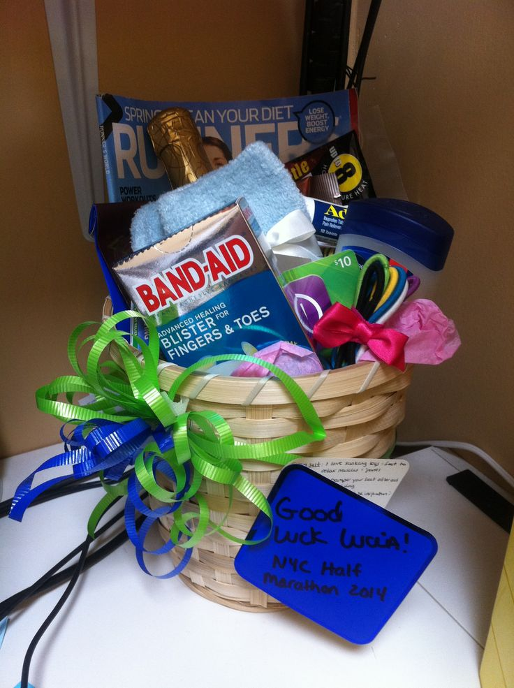 1000+ images about Marathon Gift Basket on Pinterest