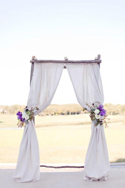Lavender chuppah: http://www.stylemepretty.com/southwest-weddings/2014/03/12/elegant-purple-wedding-at-sky-creek-ranch/   Photography: Ivy Weddings - http://www.ivy-weddings.com/