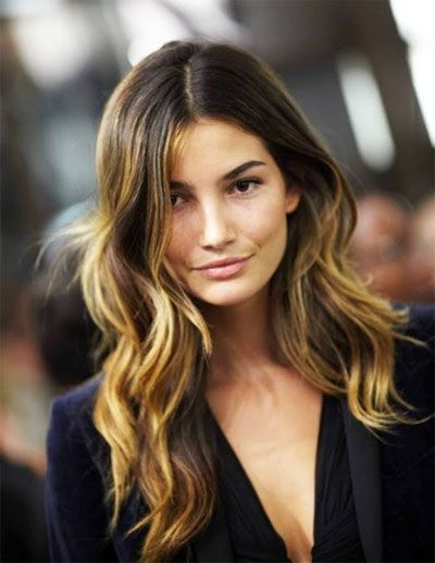 Perfect waves: Ombre Hair Color, Haircolor, Wavy Hair, Ombrehair, Lilies Aldridge, Hairstyle, Hair Style, Brown Hair, Highlights