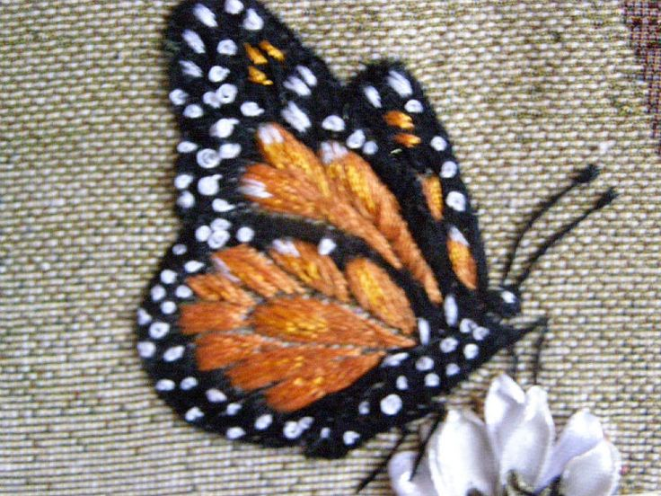monarch-- I like the way that the spaces between satin stitched areas are used.