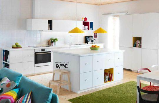 Decoration De Cuisine : Une cuisine ouverte qui se fond dans la pièce à vivre  Cuisine Ikea