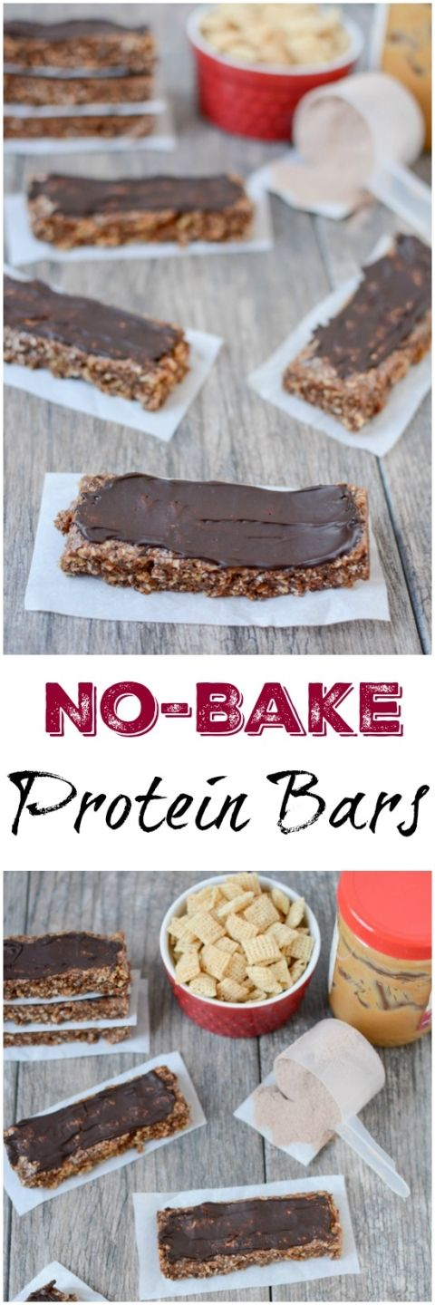 These No-Bake Protein Bars are a homemade version of your favorite store-bought peanut butter protein bar, without all the crazy ingredients. They're the perfect snack after a tough workout.