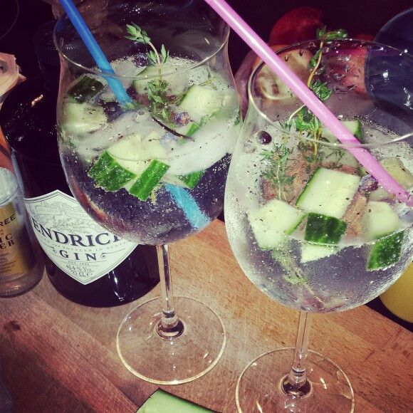 Hendricks Gin & Fevertree tonicwater #favourite