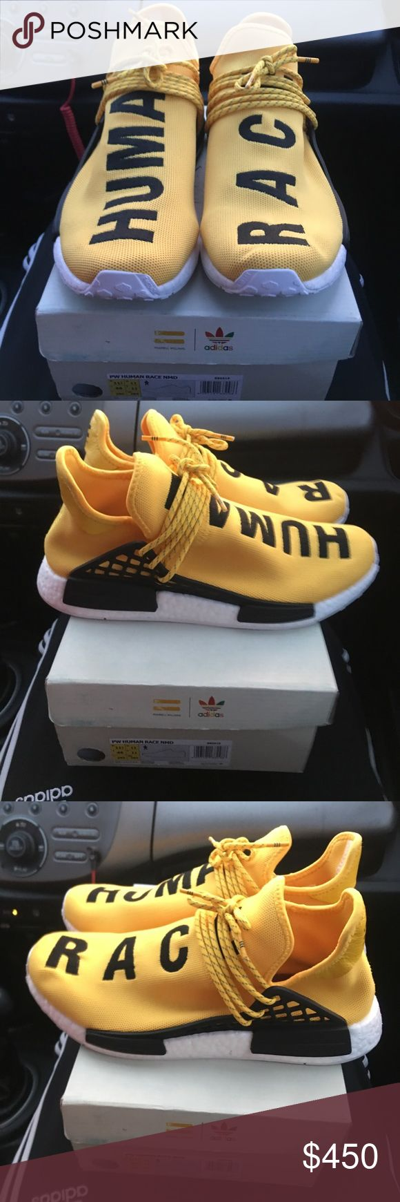 Pharrell Williams x adidas NMD human race Worn 2x sz 10 comes with box. Need money for a new car so price is negotiable! Adidas Shoes Sneakers