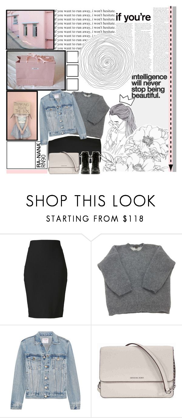 """Intelligence will never stop being beautiful.(check d)"" by ra-nana ❤ liked on Polyvore featuring Winser London, Louis Vuitton, Frame, Michael Kors and Hot Topic"