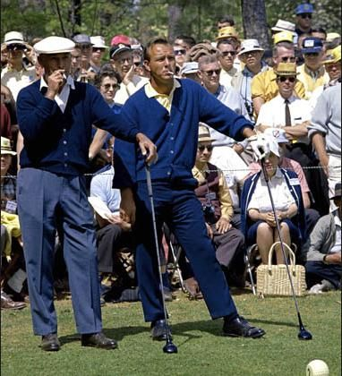 Ben Hogan and Arnold Palmer at the Masters