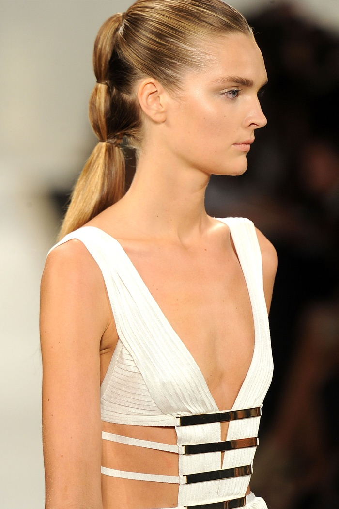 Herve Leger By Max Azria: Sleek Multi-Pony: Hairstyles Models, Long Hairstyles, Herve Leger, Hair Hairstyles, Ponies, Fashion Hairstyles, Night Hairstyles, Hair Style, Ponytail Hairstyles