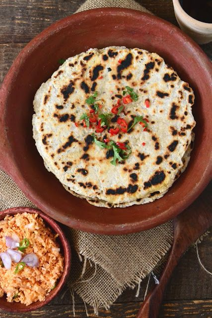 #54 The Sri Lankan Coconut Roti and Lunu Miris (made with onions and chillie) - a must try traditional food, perfect for breakfast, dinner or even as a snack.