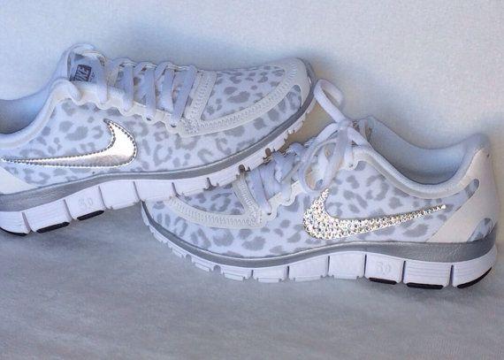 Nike Free Run 5.0 with Swarovski crystal by HarrietHazelDesigns