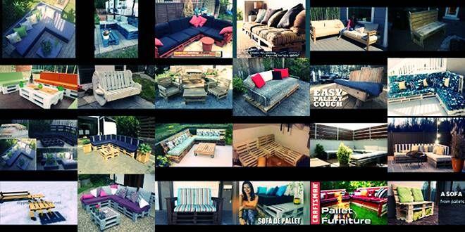 Καναπές καθιστικό Κήπου από ξύλινες Παλέτες. 30 ιδέες DIY Videos περισσότερα στο : http://www.helppost.gr/how-to/paletes/kanapes-kathistiko-khpoy-diy/