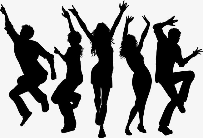 Dancing Silhouette Figures Vector Cartoon Hand Painted Png Transparent Clipart Image And Psd File For Free Download Dance Silhouette Silhouette Silhouette Art