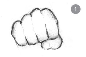 Most popular tags for this image include: drawing and fist ...