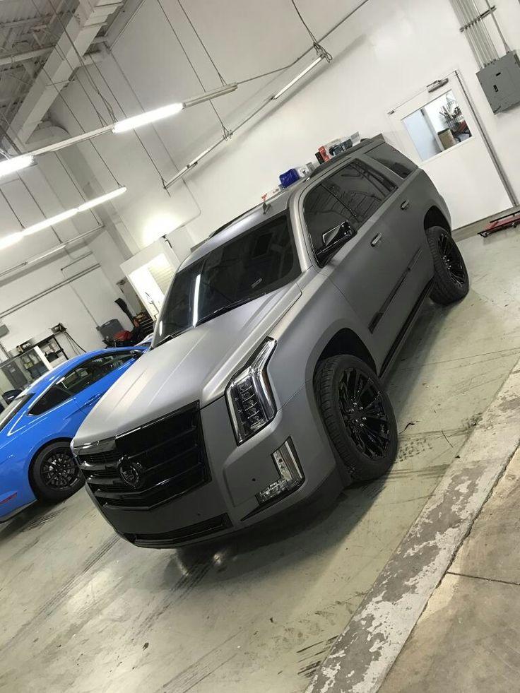 Cadillac Escalade Matte Gray #cadillac #escalade #suv #trucks #luxury #mat