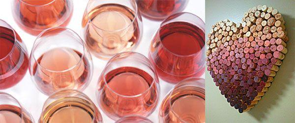 Ombre wijn EN Ombre hart van de kurken. Pinterested @ wedspiration.com