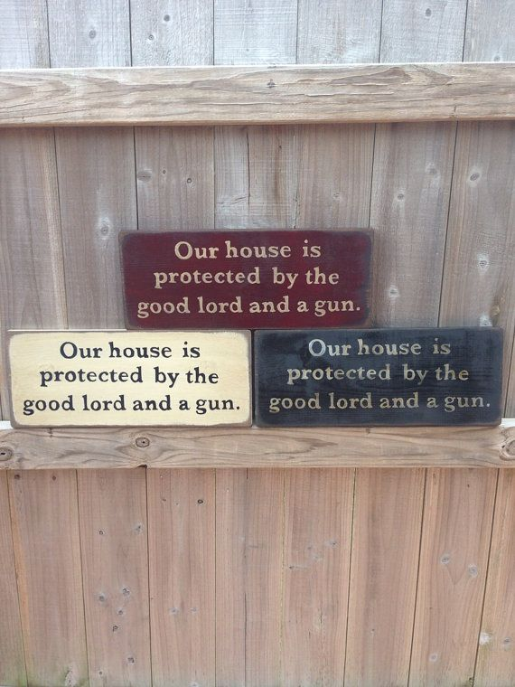 Our house is protected by the good lord and a by KPrimitiveCrafts, $15.00